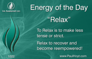 Paul Hoyt Energy of the Day - Relax 2016-09-08